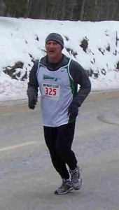Kevin Mitchell at Mile 9 of the Mid Winter 10 Miler held on Feb 1, 2009 at Cape Elizabeth