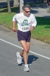 Mr. Hodgkin at Maine Half Marathon about a mile from finish line. Photo courtesy of David Colby Young
