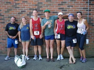 Andrew, Mary, Peter, Ron, Bonnie, Reed and Allison at the Celtic 5K. Everyone did great!