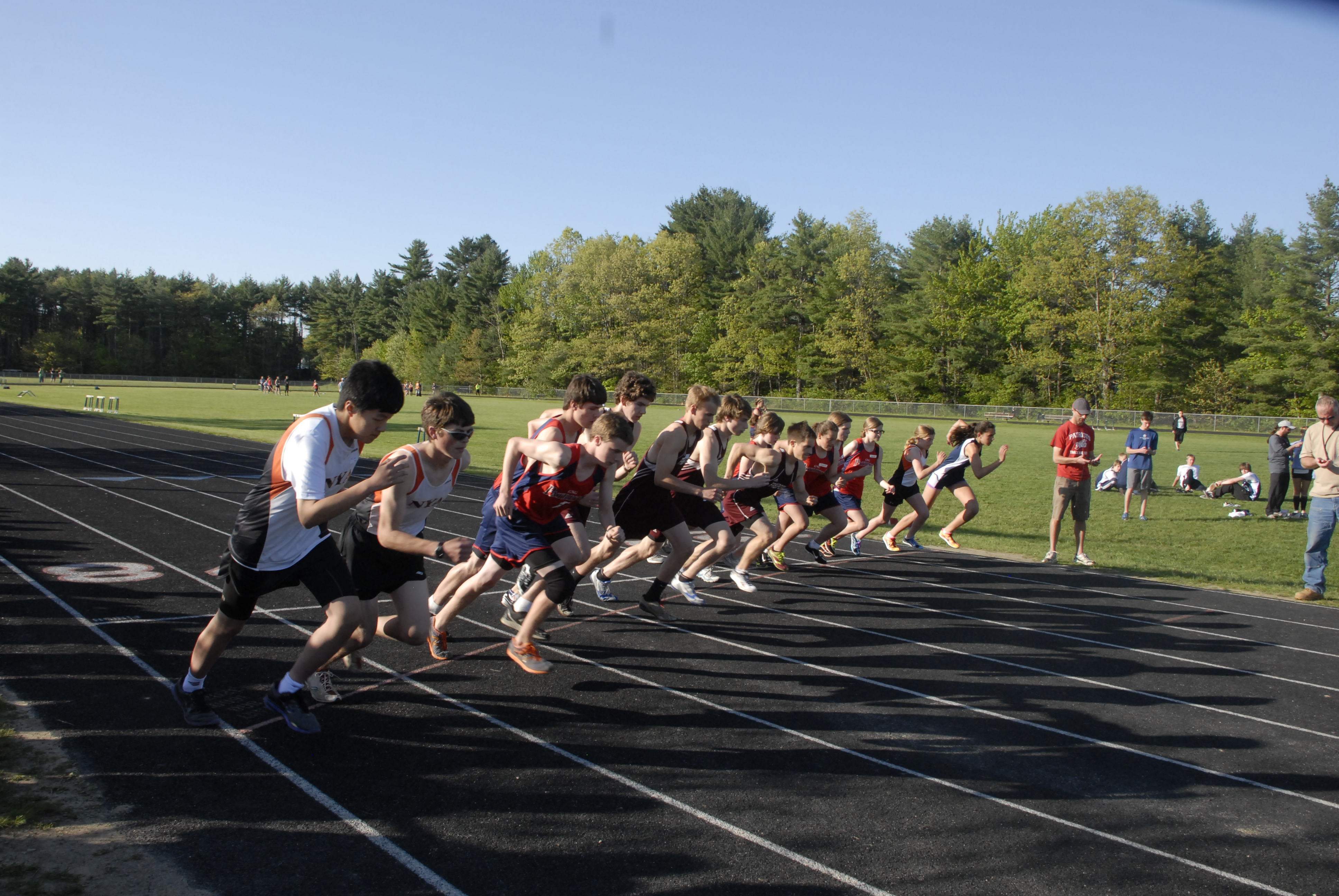 The start of the 3200 meter, photo courtesy of David Colby Young