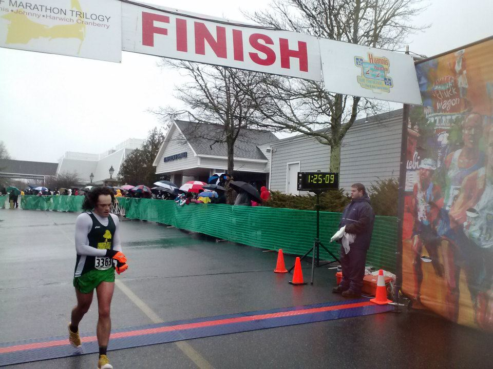 1st Maine Runner to finish the Half. 32 15/202 M1829 1:25:09 1:24:48 6:29 Ara Parseghian 28 M 3363 Portland ME FOREST HILLS RUNNERS photo courtesy of Granite State FB