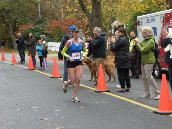 Race winning Christine Irish from North Falmouth, ME. photo Yankee Timing