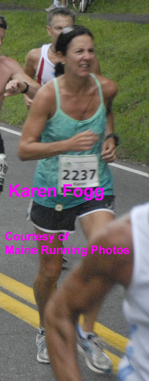 1st female, Karen Fogg, in 5K race (file photo courtesy of David Coloby Young