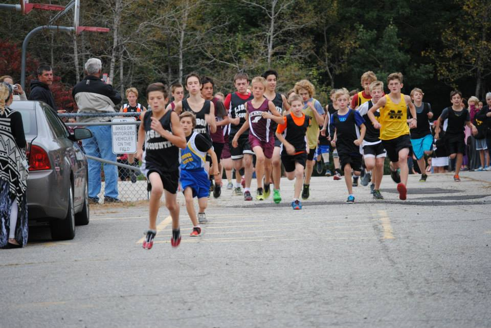 Start of Boys Middle School XC race courtesy of Peter Cole